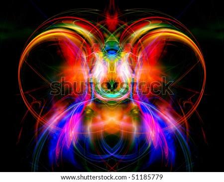 Wonderful fractal - stock photo