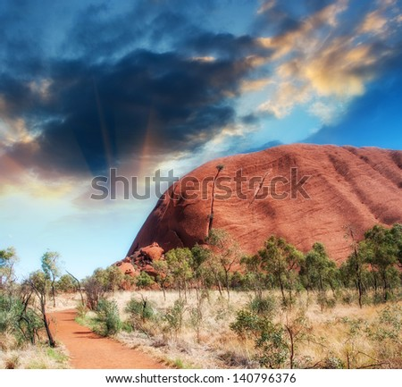 Wonderful Outback colors in Australian Desert. - stock photo