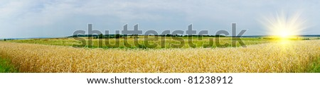 Wonderful panorama of countryside. - stock photo