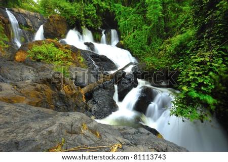 Wonderful Pasuea Waterfall, Maehongson, Thailand - stock photo