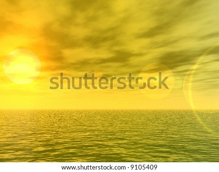 Wonderful sunset over the sea