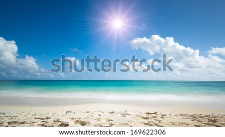 wonderful tropical beach - stock photo