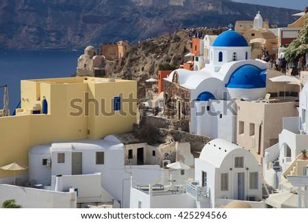 Wonderful view, Santorini island, Greece - stock photo