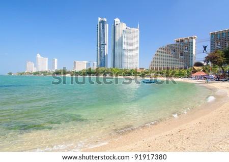 wongamart beach, Pattaya, Thailand - stock photo