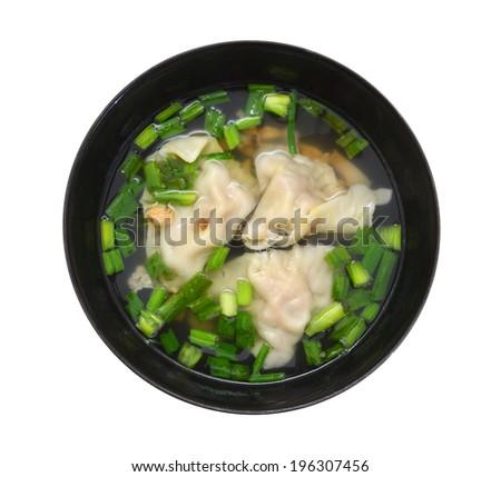 Wonton Soup, asian food  - stock photo