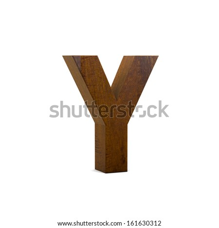 Wood ABC Character Design Isolated on White Background