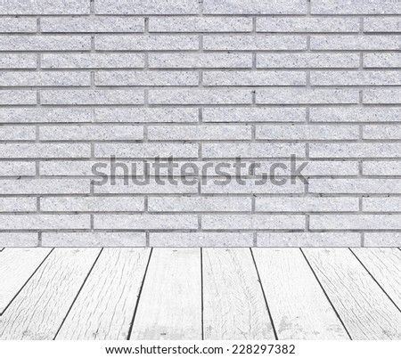 Wood and stone texture background wall and floor - stock photo
