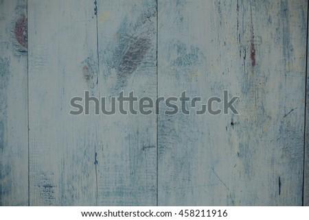wood background blue. plank retro background.pattern - stock photo