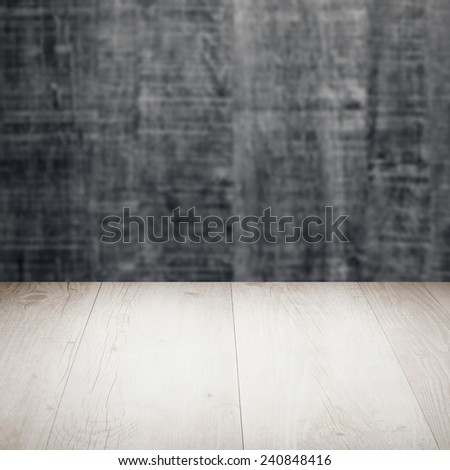 Wood background - table with wooden wall