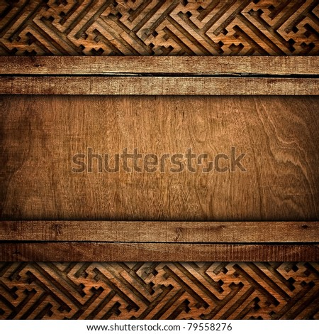 wood background with carving