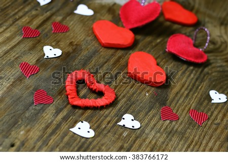 wood background with heart shape