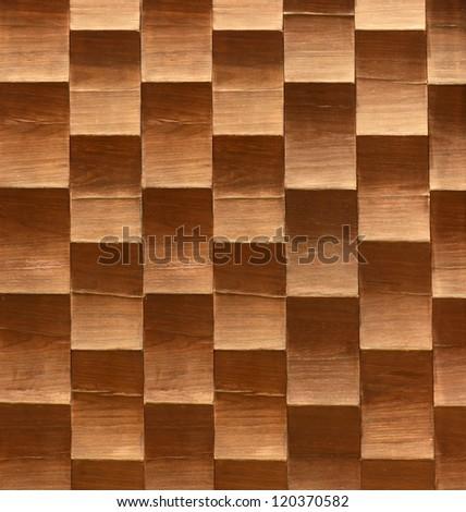 Wood  background with zigzag pattern - stock photo
