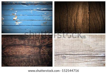 Wood backgrounds, boards, old wood - stock photo