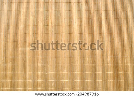 Wood Bamboo Mat Texture Background - stock photo