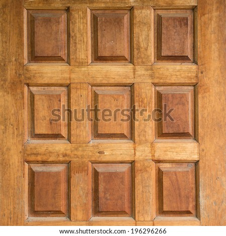 wood board carving decorated furniture - stock photo