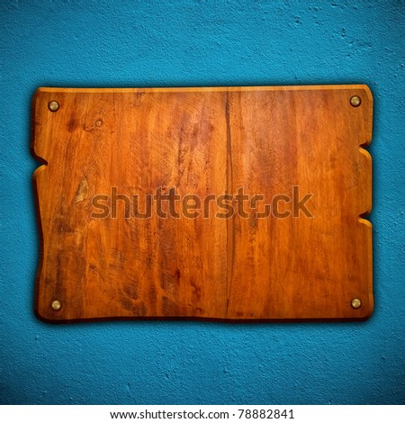 wood board on wall - stock photo
