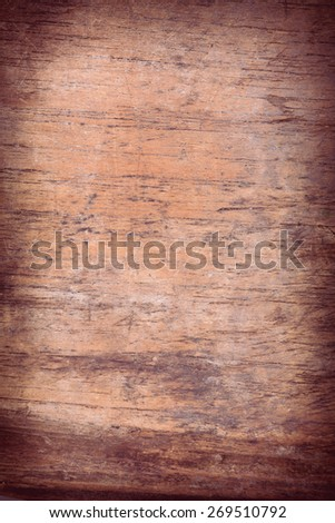 wood board weathered with scratch texture background - stock photo
