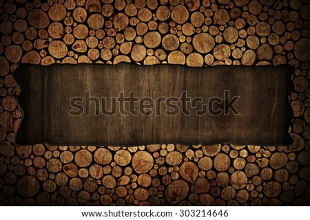 wood board with stumps background  - stock photo