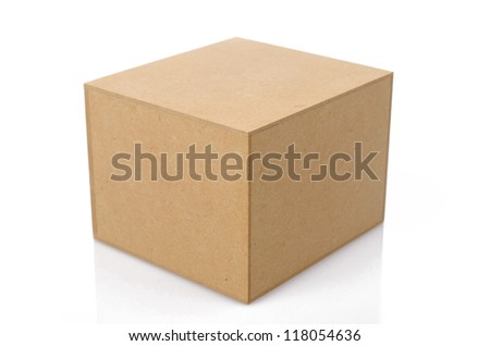 Wood Box with white background