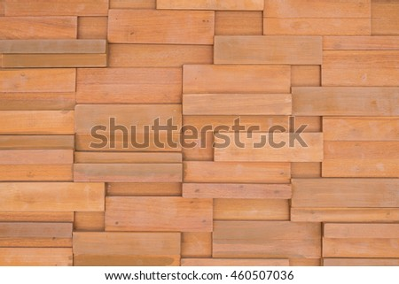 wood brick wall  or wood brick background