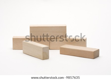 wood bricks - stock photo