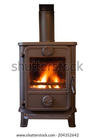 Wood burner - stock photo