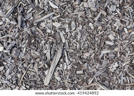 wood chips, surface with chips, the texture of wood chips
