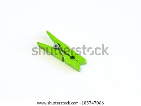 wood clothes pin colors - stock photo