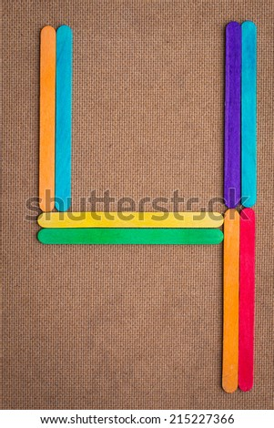wood color colorful Numbers - stock photo