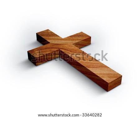 Wood Cross - stock photo