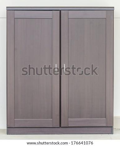 Wood cupboard furniture - stock photo