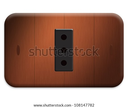 wood domestic electrical outlet plate