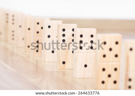 Wood domino pieces  - stock photo