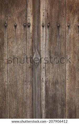wood doors - stock photo