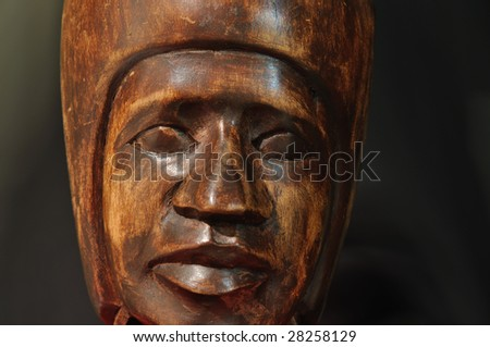 wood face - stock photo