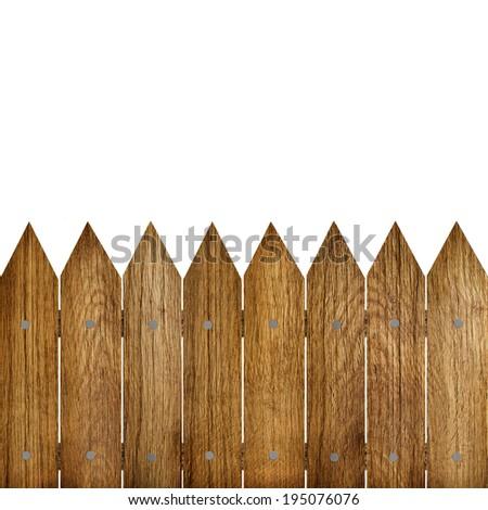 wood fence - stock photo