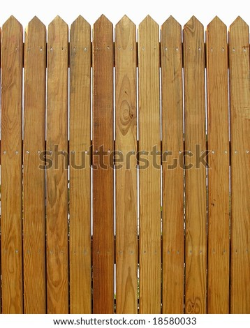 Wood Fence -- with slats that show the natural wood pattern
