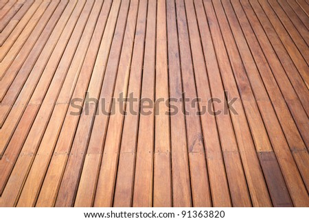 wood floor for background - stock photo