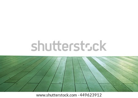 Wood floor texture in light color tone isolated on white background. nature good Perspective warm wooden floor texture. Empty room with wall and wooden floor. Art Wood Design Element Painted 4 - stock photo