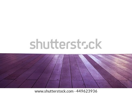 Wood floor texture in light color tone isolated on white background. nature good Perspective warm wooden floor texture. Empty room with wall and wooden floor. Art Wood Design Element Painted 5 - stock photo