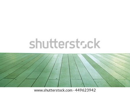 Wood floor texture in light color tone isolated on white background. nature good Perspective warm wooden floor texture. Empty room with wall and wooden floor. Art Wood Design Element Painted 3 - stock photo