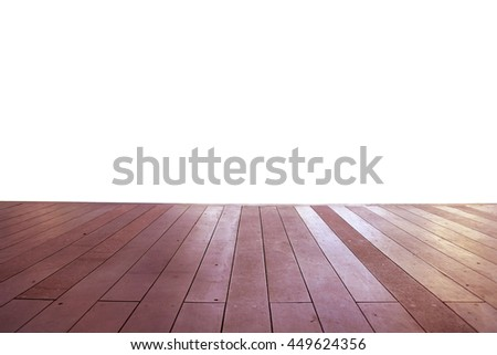 Wood floor texture in light color tone isolated on white background. nature good Perspective warm wooden floor texture. Empty room with wall and wooden floor. Art Wood Design Element Painted 18 - stock photo