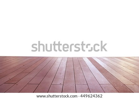 Wood floor texture in light color tone isolated on white background. nature good Perspective warm wooden floor texture. Empty room with wall and wooden floor. Art Wood Design Element Painted 10 - stock photo
