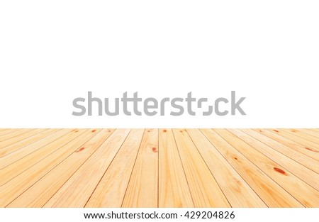Wood floor texture isolated on white background - stock photo