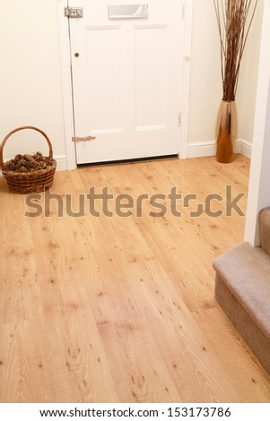 Wood flooring in a home - stock photo