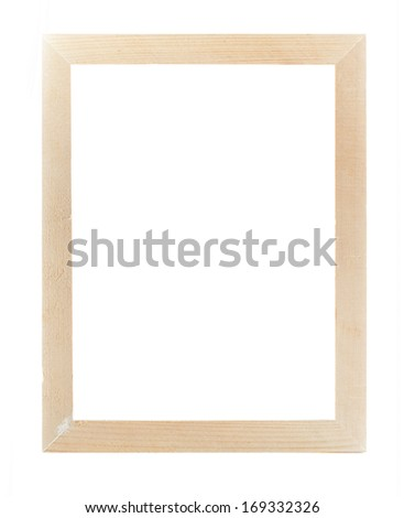 wood frame  isolate white background - stock photo