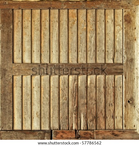 wood frame made from planks texture