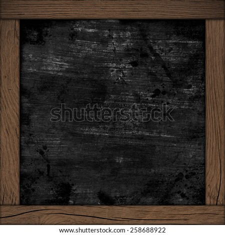 wood frame with black background