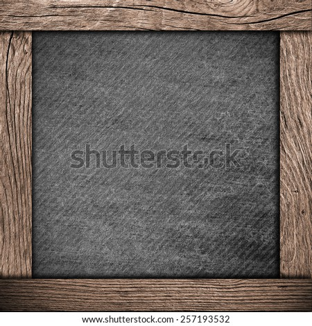 wood frame with dark paper