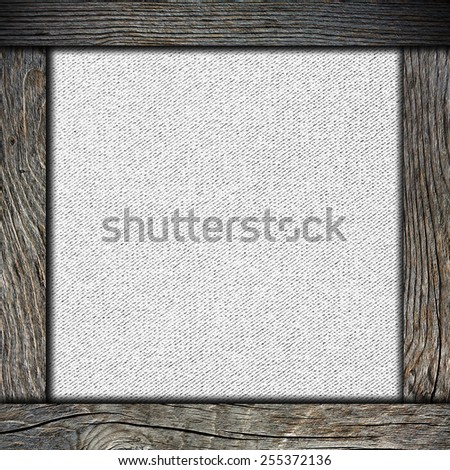 wood frame with paper - stock photo